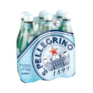 Eau minérale naturelle gazeuse San Pellegrino - 6x50cl
